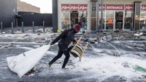 South Africa looting